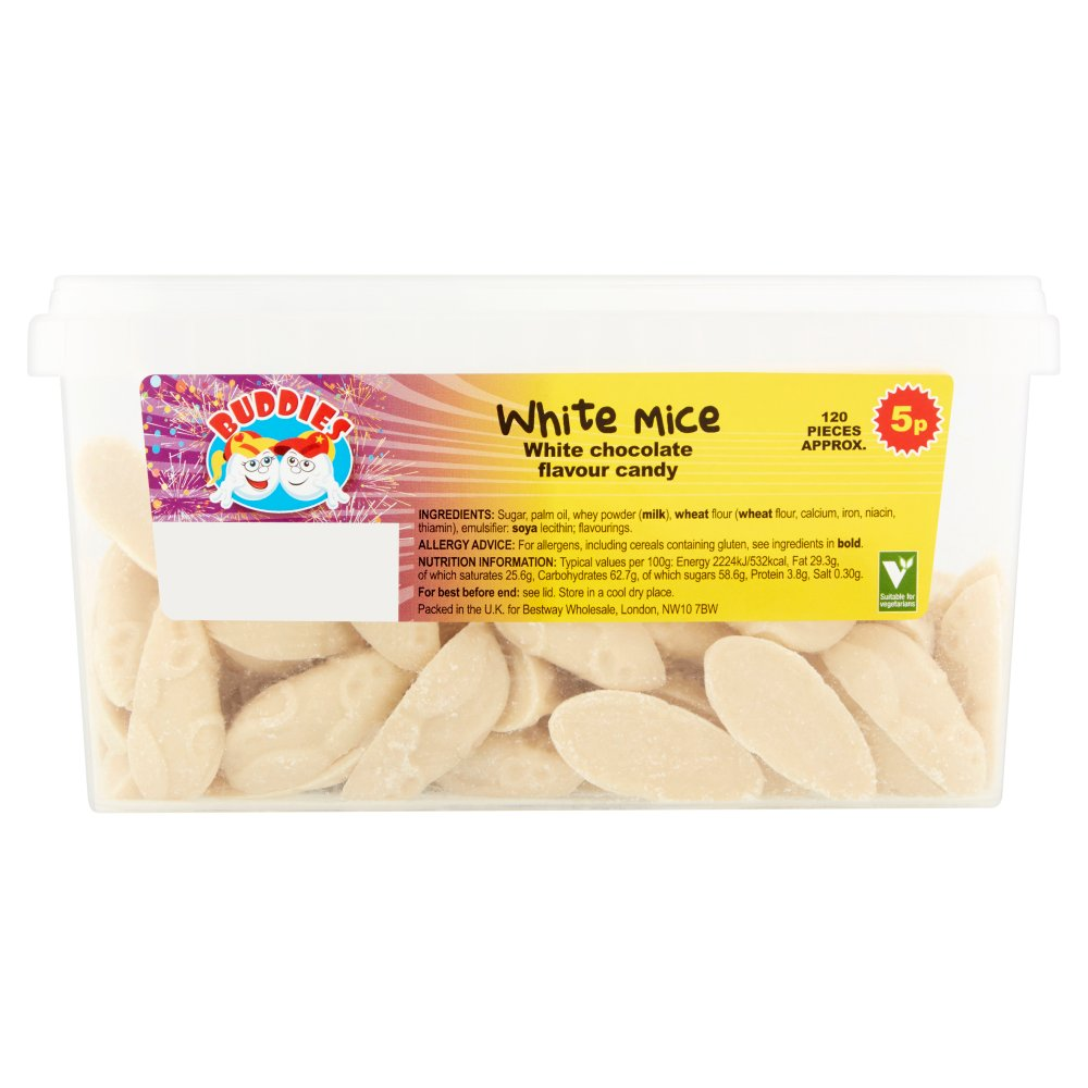 Buddies White Mice 5p