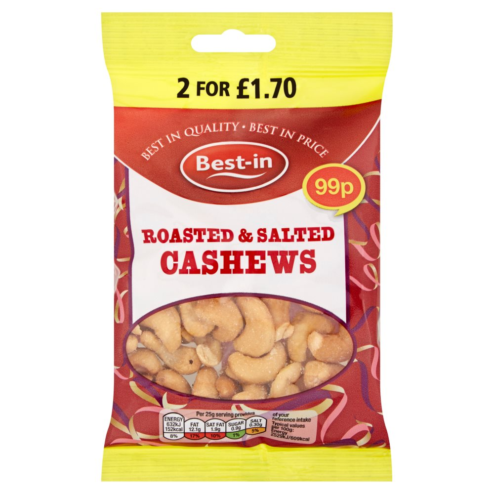 Bestin Roasted Salted Cashews PM 99p