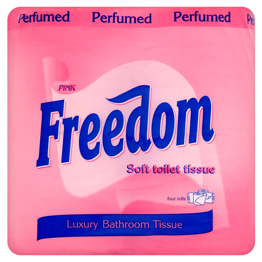 Freedom Toilet Rolls Pink 4pack