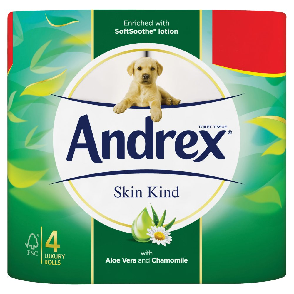 Andrex Skin Kind Toilet Roll Tissue 4 Rolls