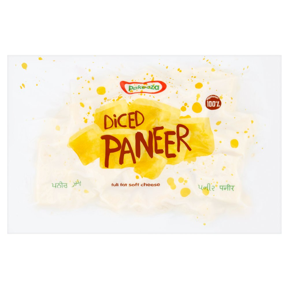 Pakeeza Diced Paneer Full Fat Soft Cheese 500g