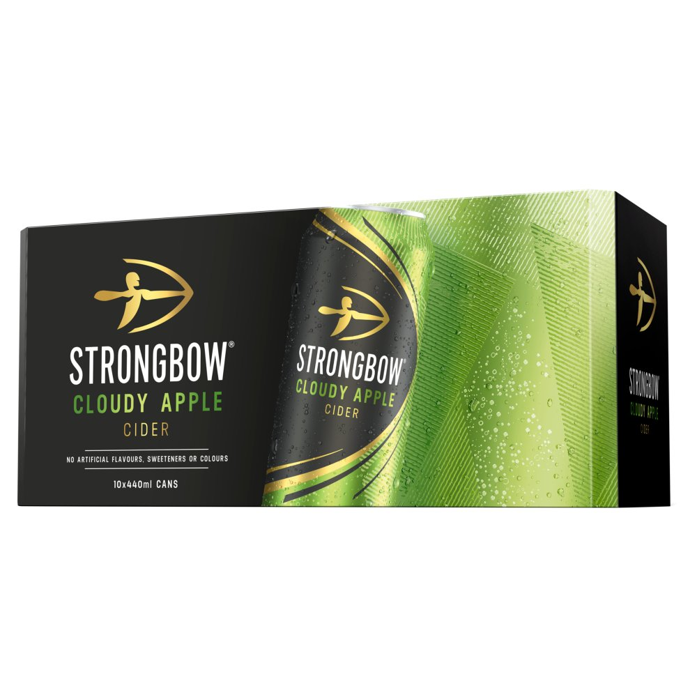 Strongbow Cloudy Apple Cider 10 x 440ml Cans