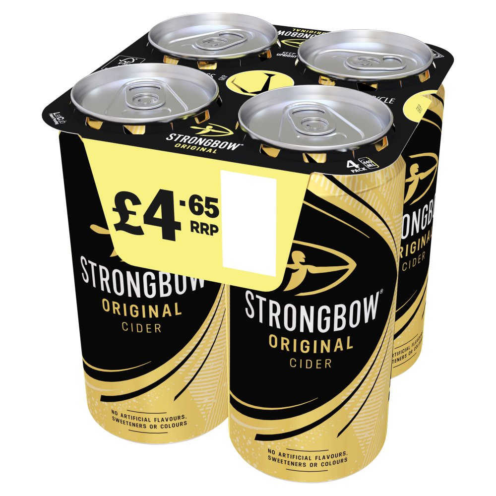 Strongbow Original Cider 4 x 440ml Cans