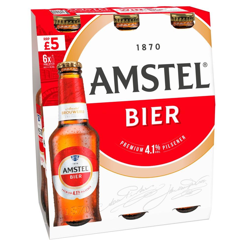 Amstel Bier Lager Beer 6 x 300ml