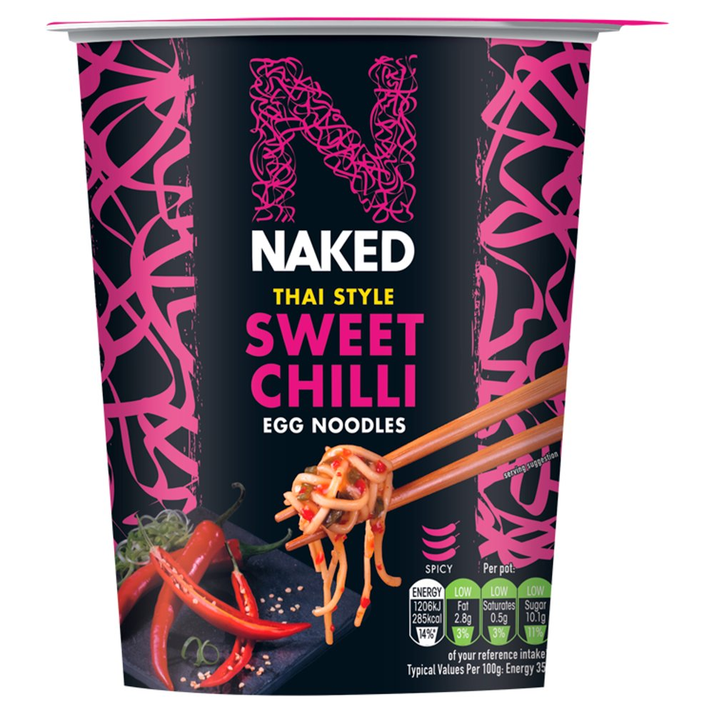 Naked Noodle Thai Sweet Chilli Egg Noodles 78g