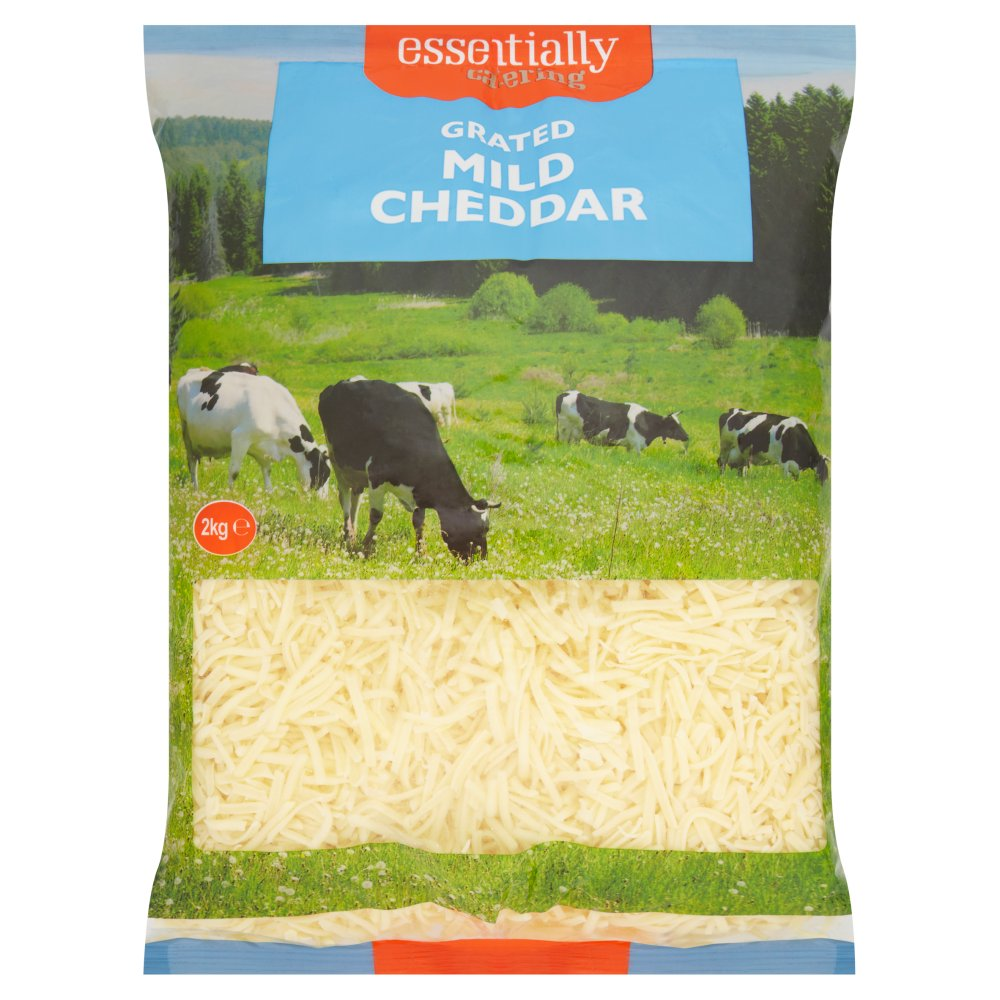 Essentially Catering Grated White Mild Cheddar