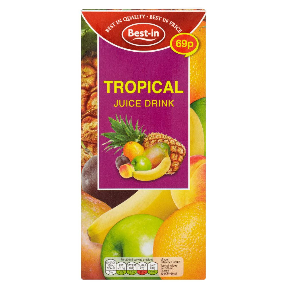 Bestin Tropical Juice Drink PM 69p