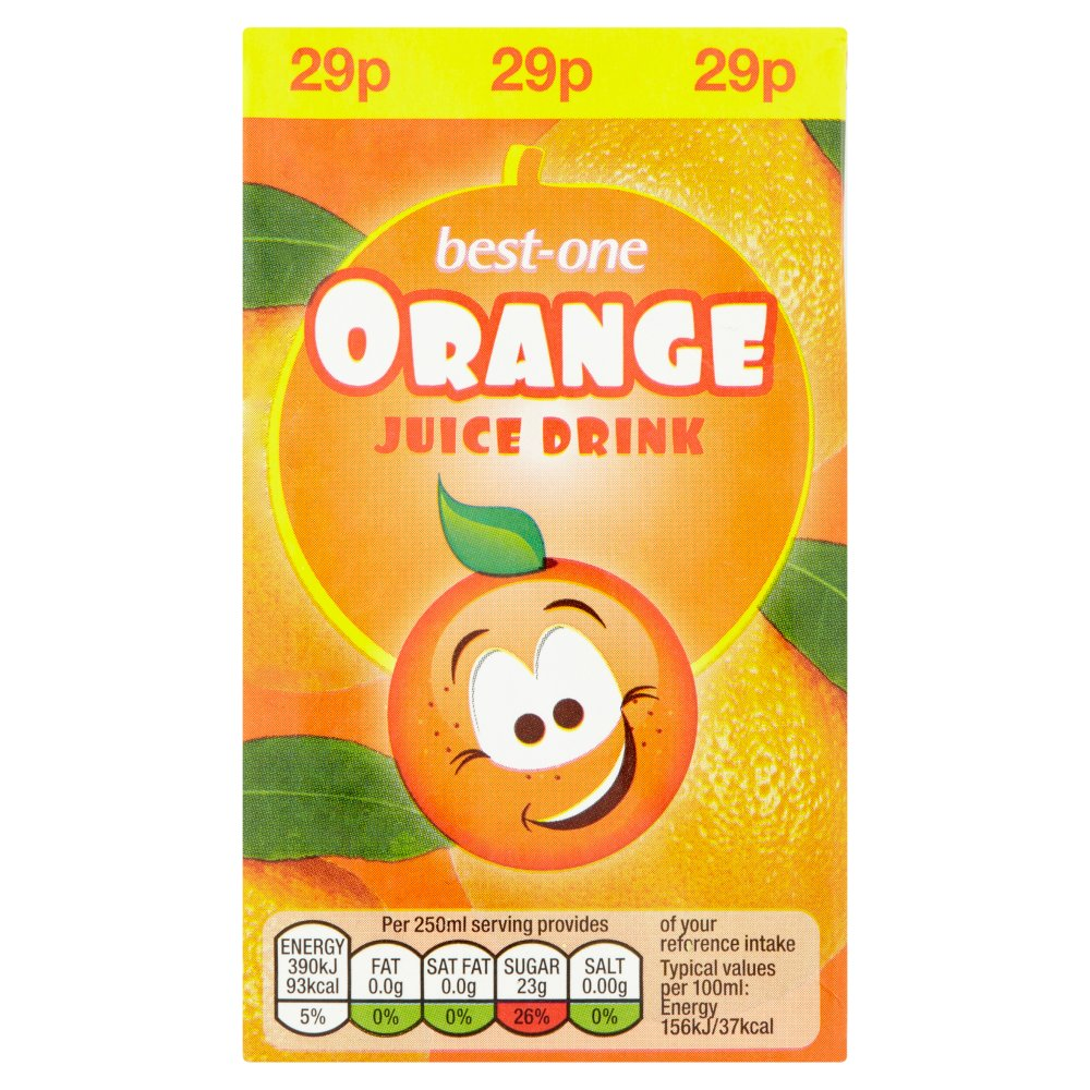 Best-One Orange Juice Drink 250ml