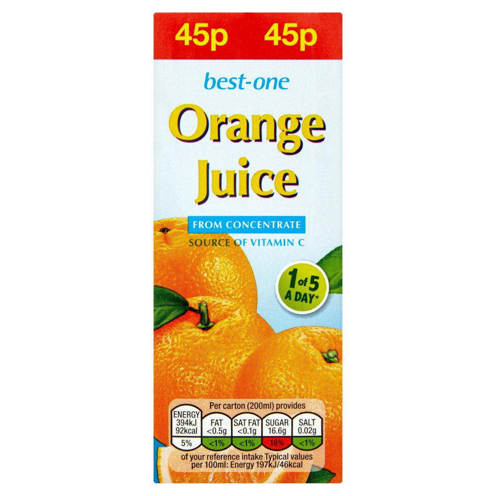 Best-One Orange Juice from Concentrate 200ml