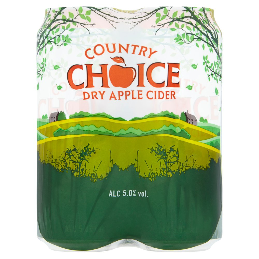 Country Choice Dry Apple Cider 4 x 500ml