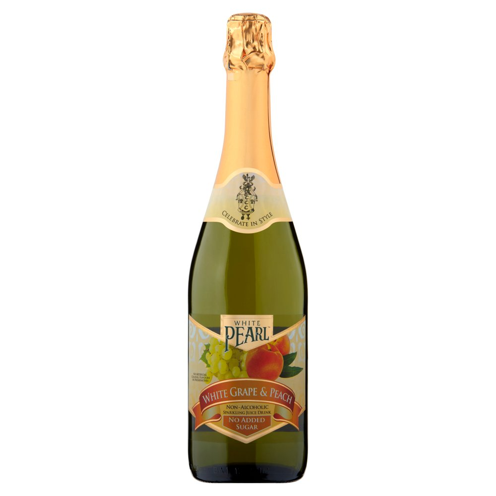 White Pearl White Grape & Peach Non-Alcoholic Sparkling Juice Drink 750ml
