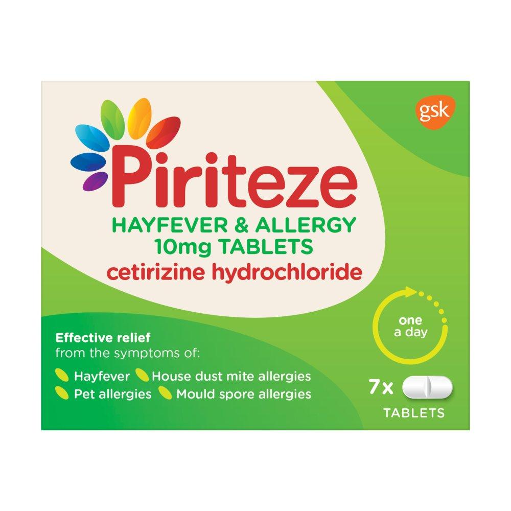 Piriteze Antihistamine Allergy Relief Tablets, Cetirizine - Pack of 7