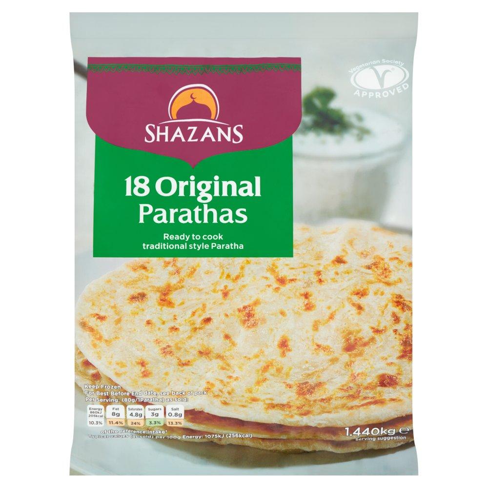 Shazans 18 Original Parathas 1.440kg