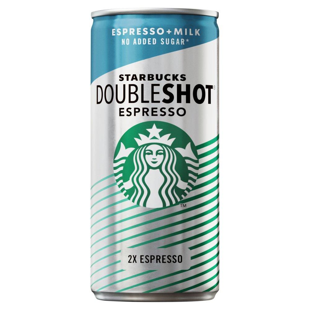 Starbucks DoubleShot Espresso No Added Sugar Iced Coffee Drink 200ml