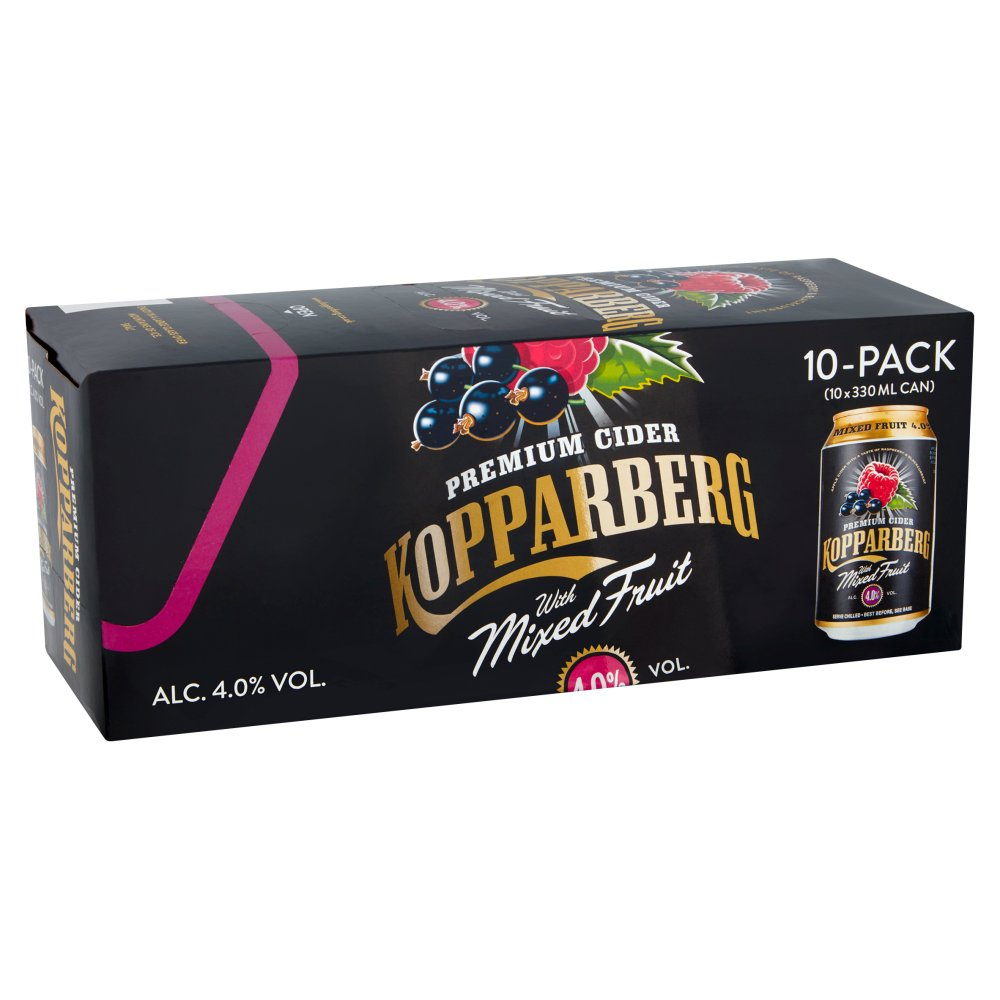 Kopparberg Premium Cider with Mixed Fruit 10 x 330ml