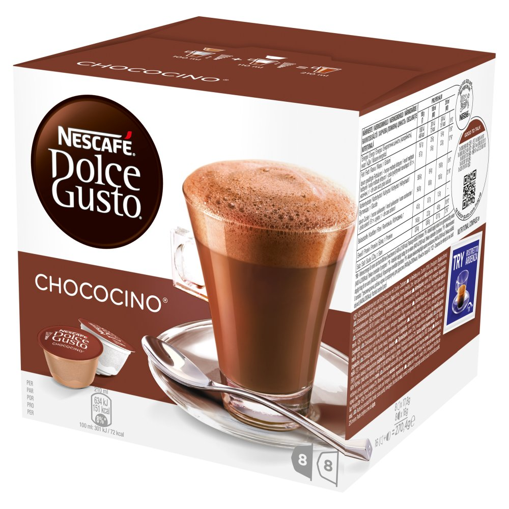 Nescafe Dolce Gusto Chococino Pods 16 Drinks