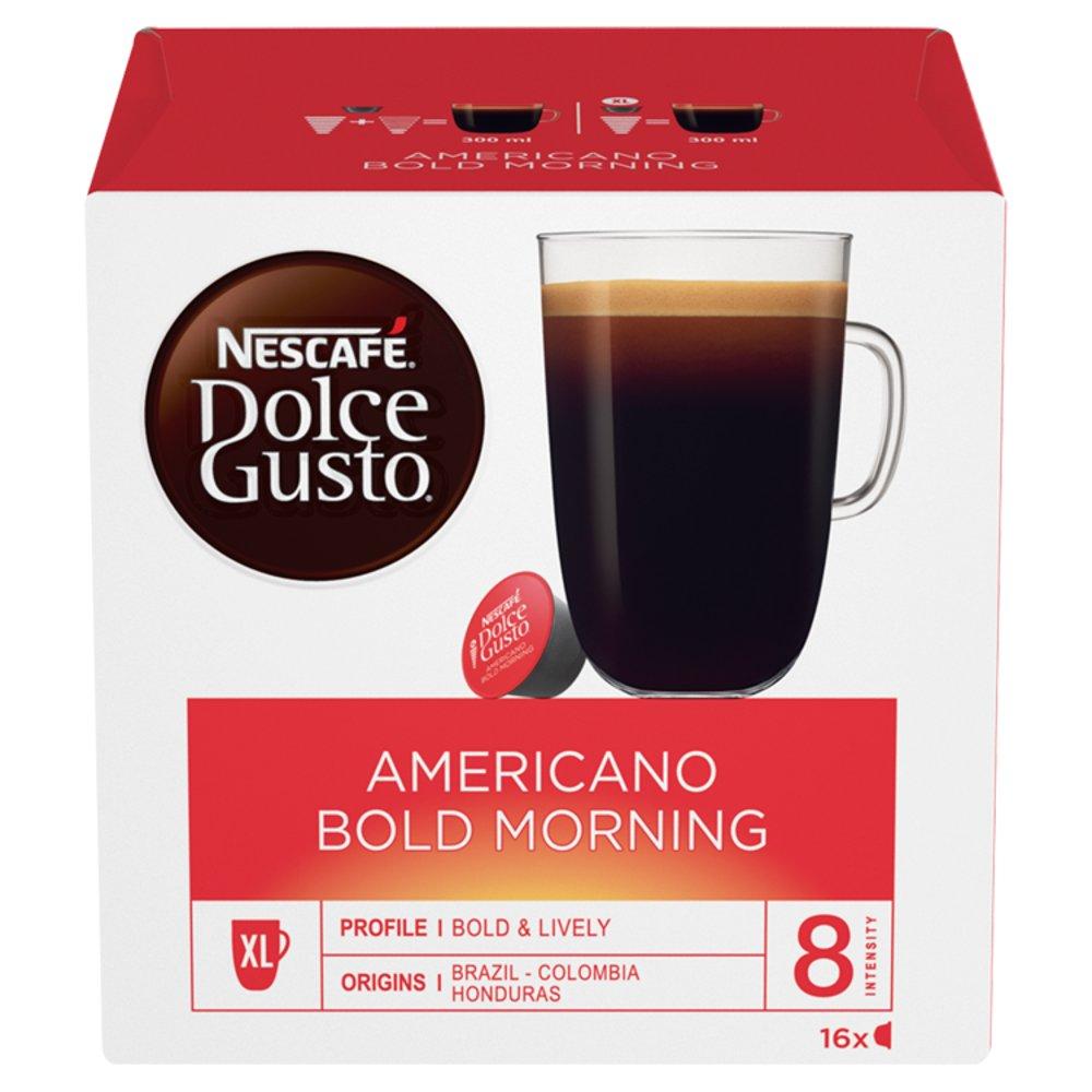 NESCAFÉ Dolce Gusto Americano Bold Morning Coffee Pods 16 Capsules per Box