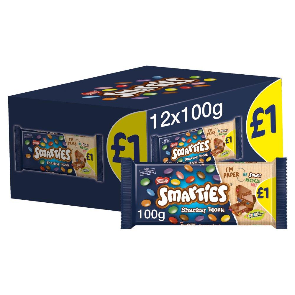 Smarties Milk Chocolate Sharing Bar 100g PMP £1