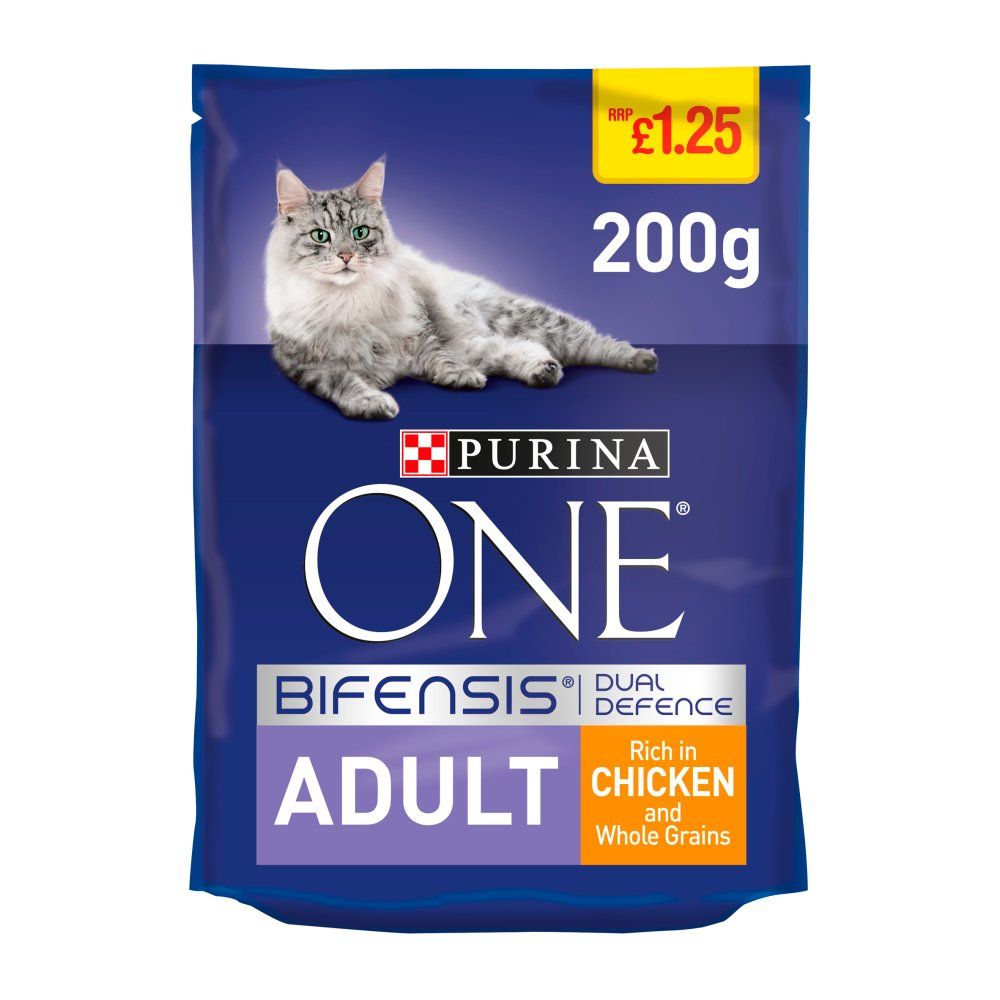 Purina ONE Adult Dry Cat Food Chicken and Whole Grains 200g