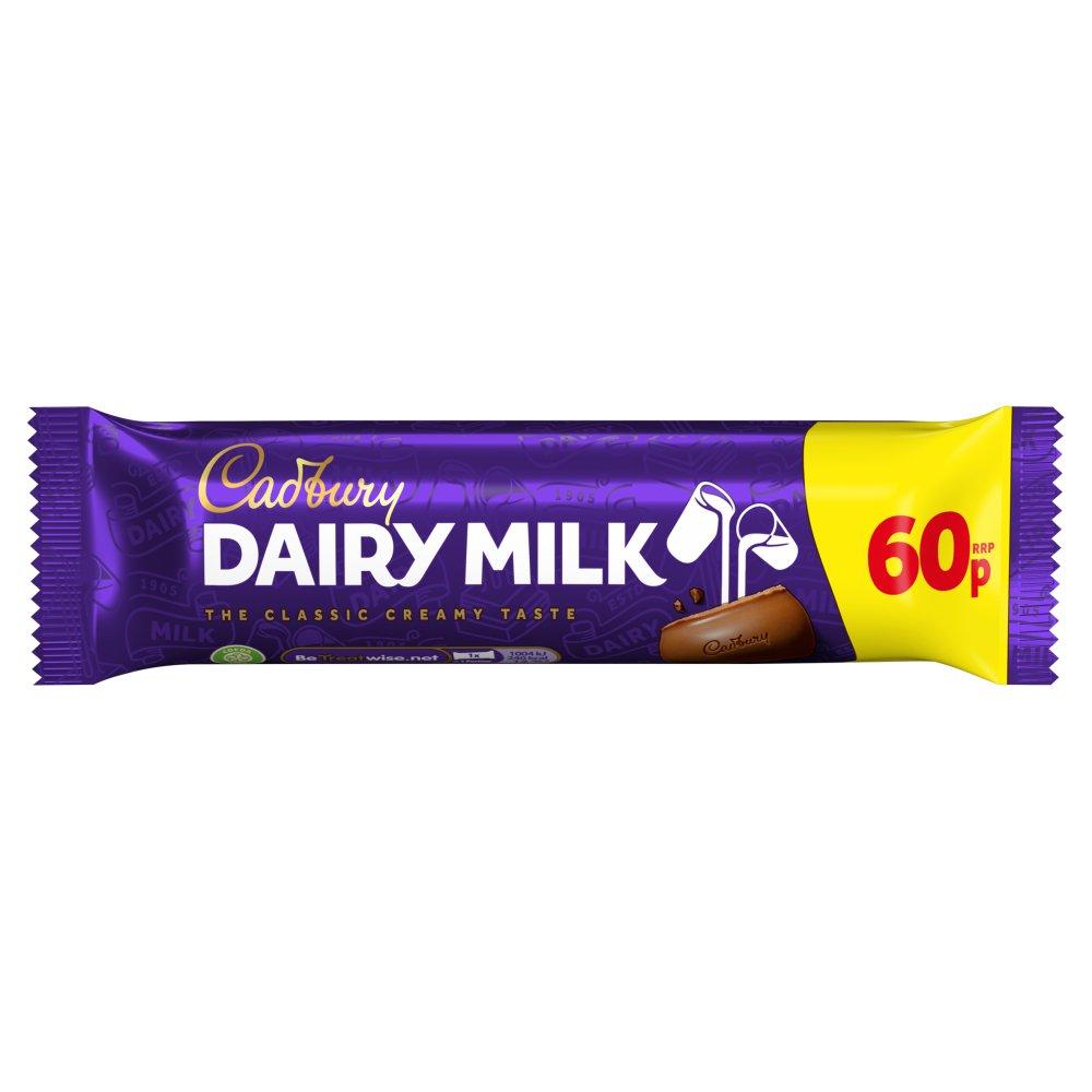 Cadbury Dairy Milk Chocolate Bar 60p 45g