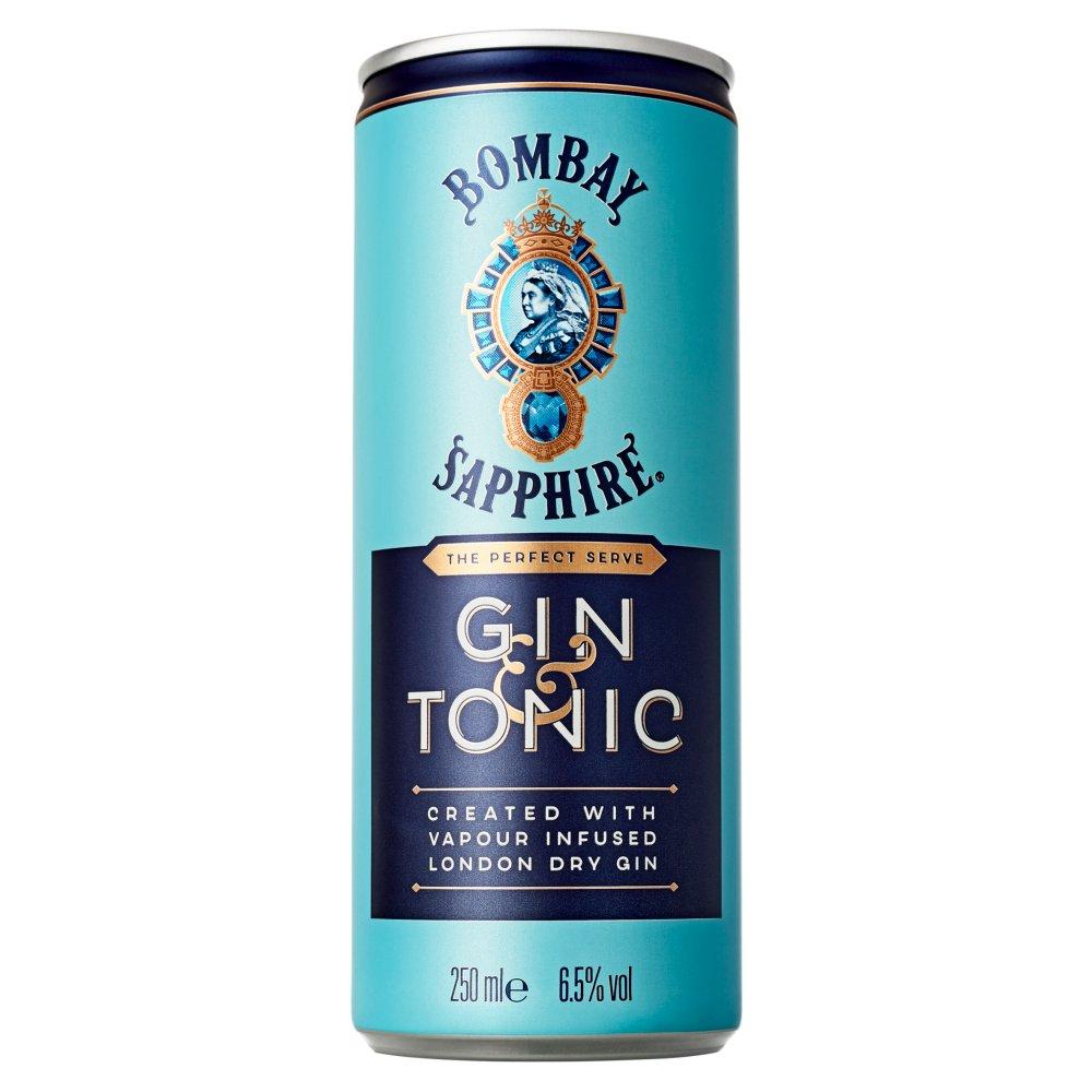 Bombay Sapphire Gin & Tonic 250ml