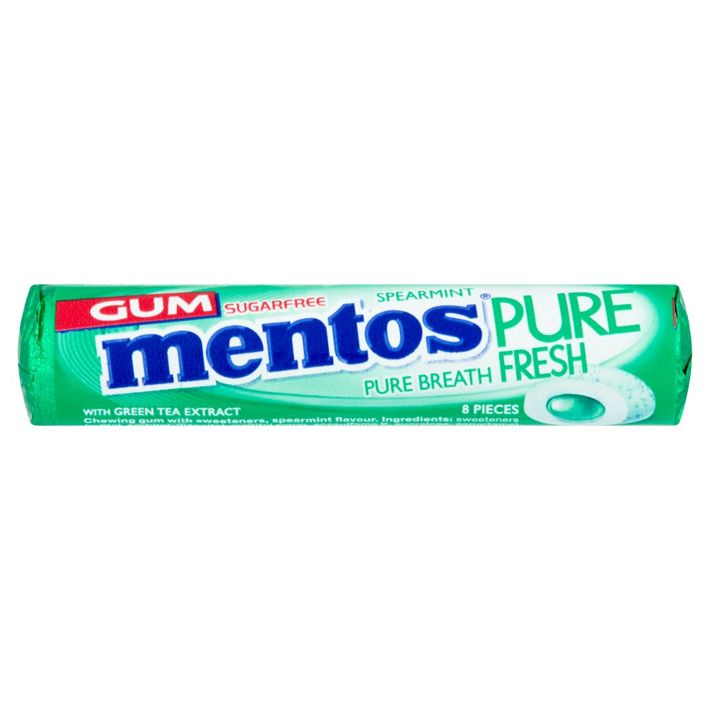 Mentos Gum Pure Fresh Spearmint 8 Pieces 15.5g