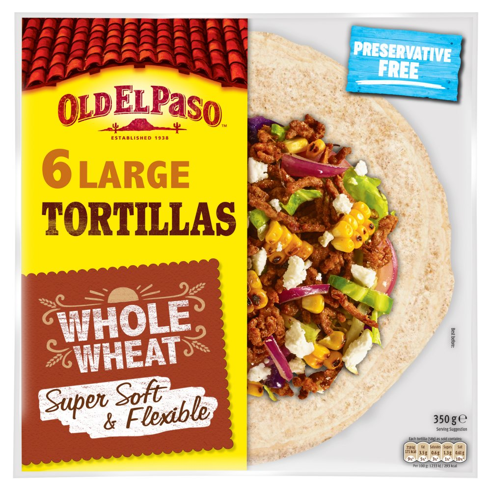 Old El Passo Tortilla Wholemeal
