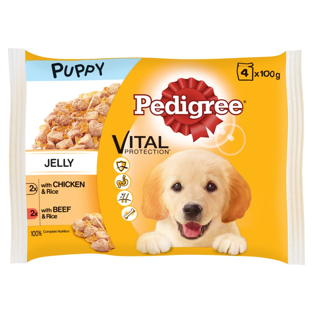 Pedigree Pouch Puppy Jelly 4pack