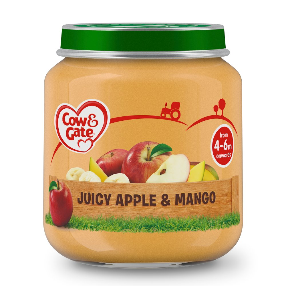 Cow & Gate Juicy Apple & Mango Fruit Puree Jar 125g