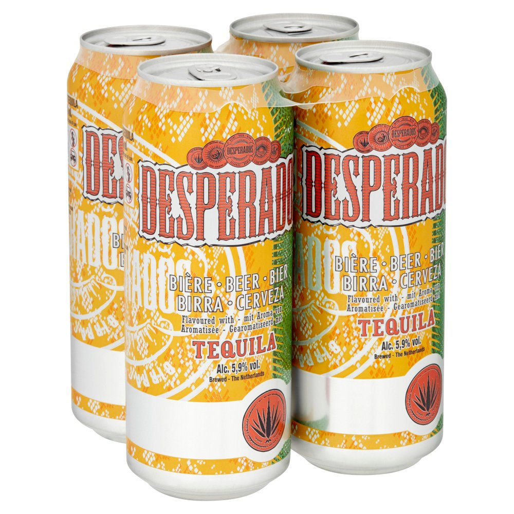 Desperados Tequila Lager Beer 4 X 500ml Cans Bb Foodservice