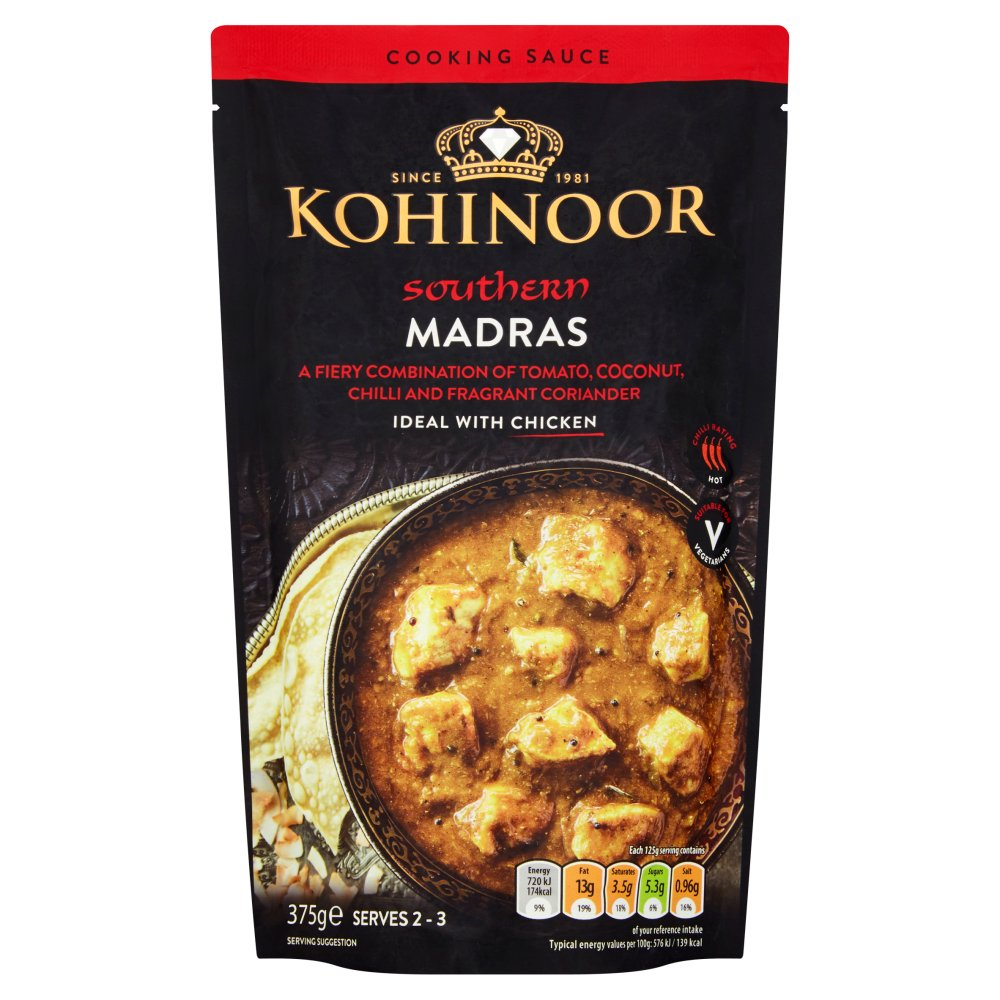 Kohinoor Southern Madras Cooking Sauce 375g
