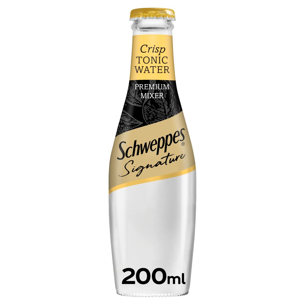 Schweppes Signature Collection Crisp Tonic Water 200ml Glass Bottle