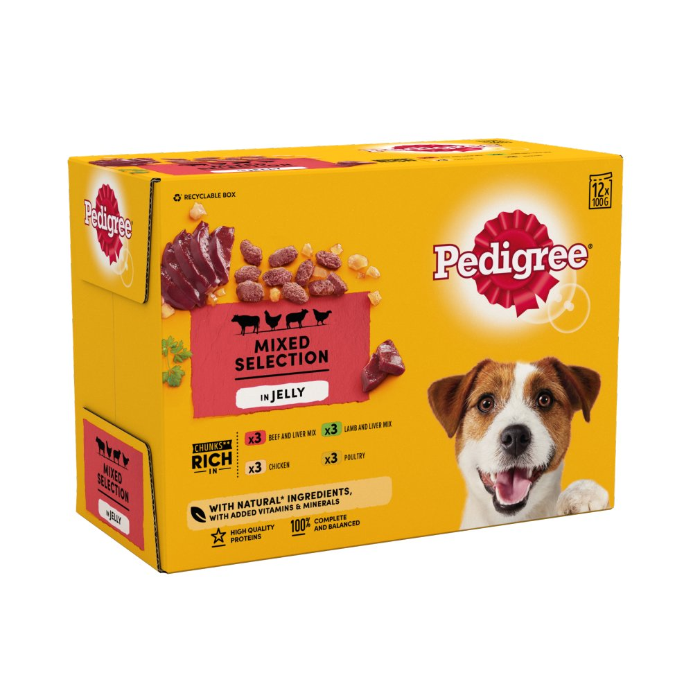 Pedigree Pouch Favourites In Jelly 12pack