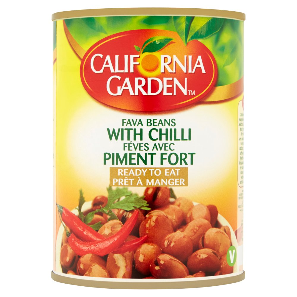 California Garden Fava Beans with Chilli 400g    Bestway Wholesale cb0be0231e