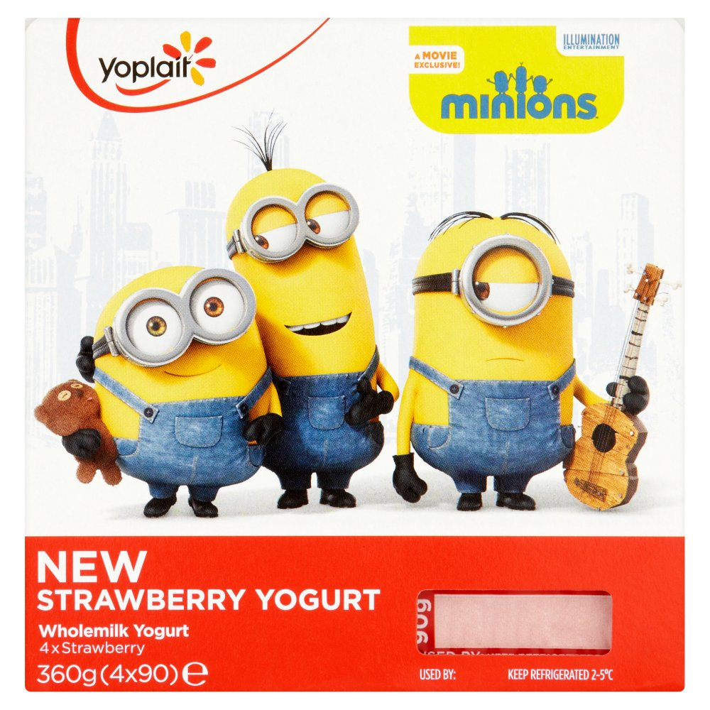 Minions Strawberry Yogurt 90g