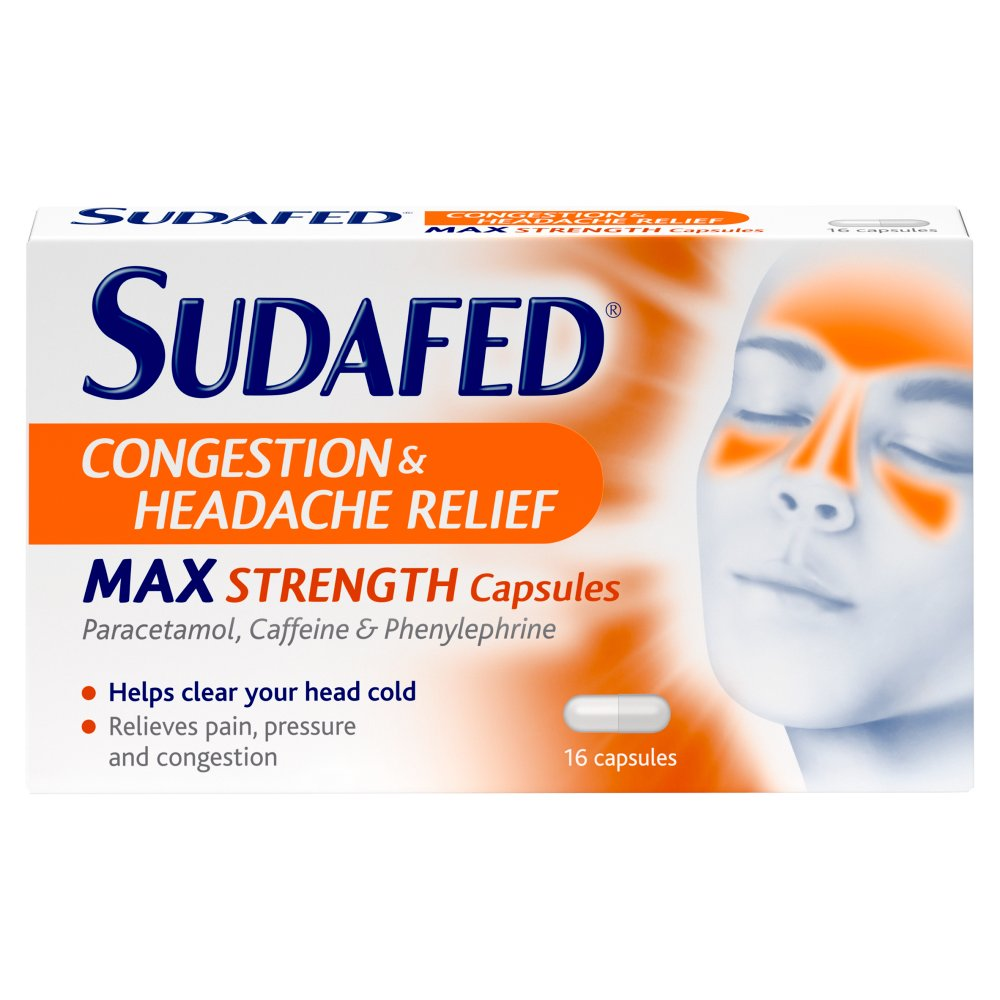 Sudafed Blocked Nose & Headache Capsules 6 For 5