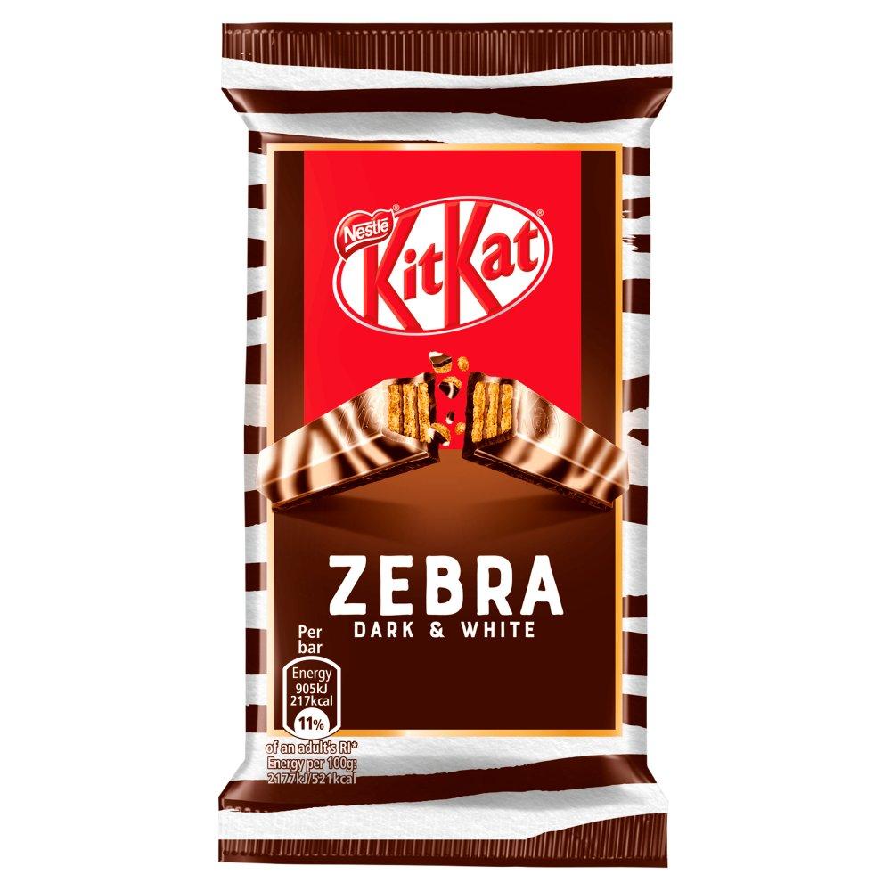 Kit Kat 4 Finger Zebra Dark and White Chocolate Bar 41.5g