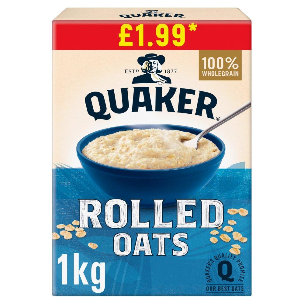 Quaker Rolled Oats £1.99 RRP PMP 1kg