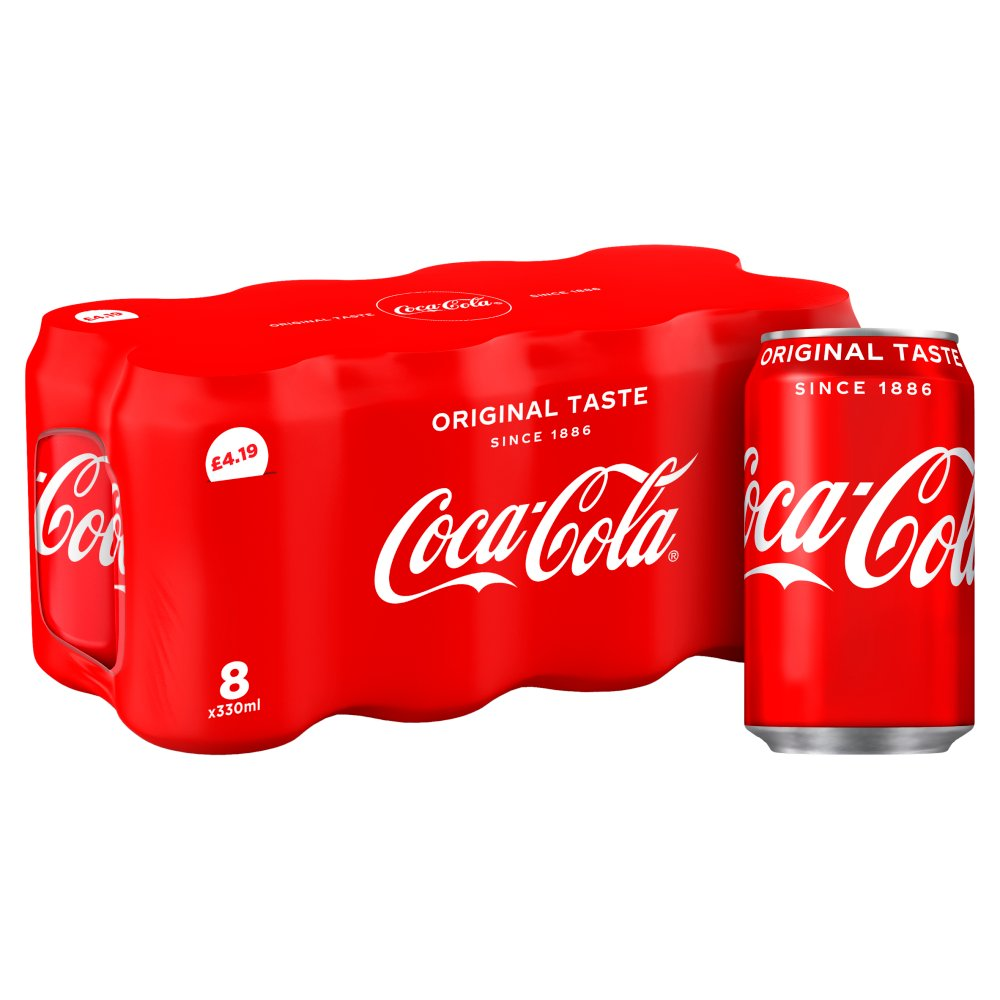 Coca-Cola Original Taste 8 X 330ml PMP £4.19