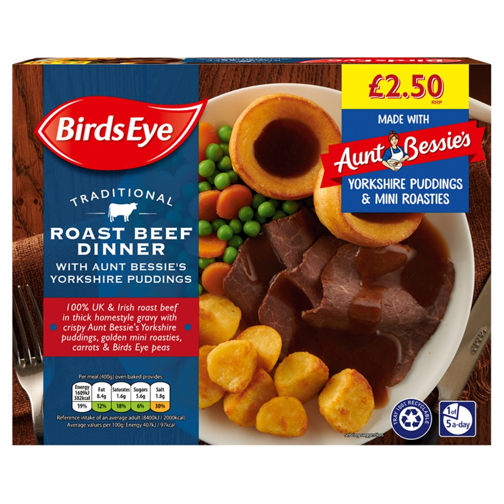 Birds Eye Traditional Beef Dinner PM £2.50