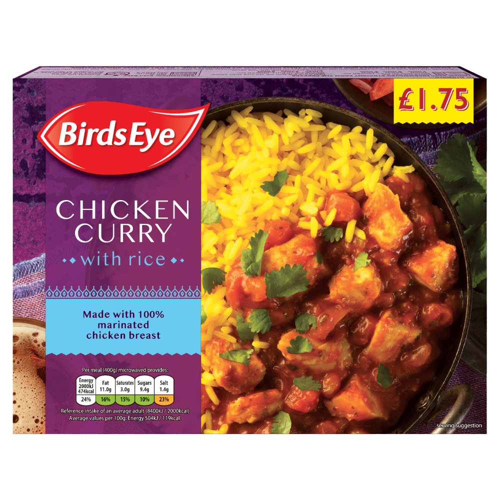 Birds Eye Chicken Curry PMP £1.75