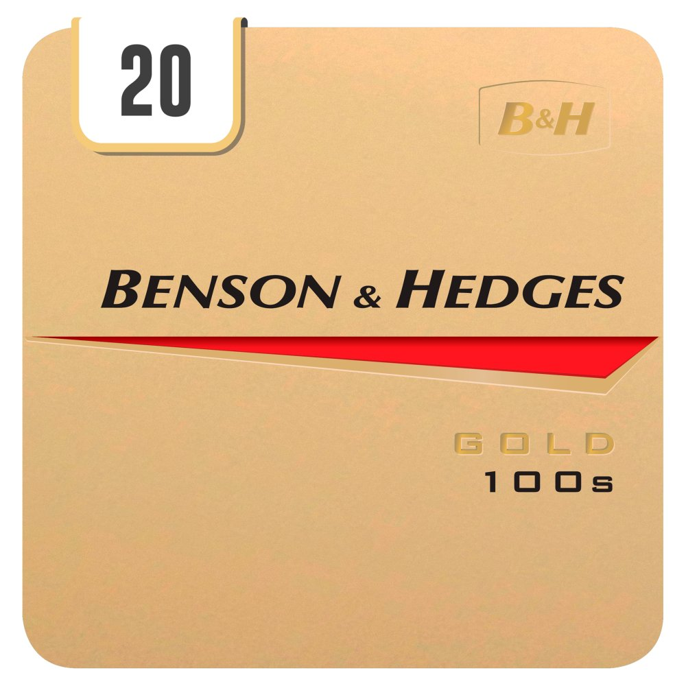 Benson & Hedges Gold 100s 20 Cigarettes