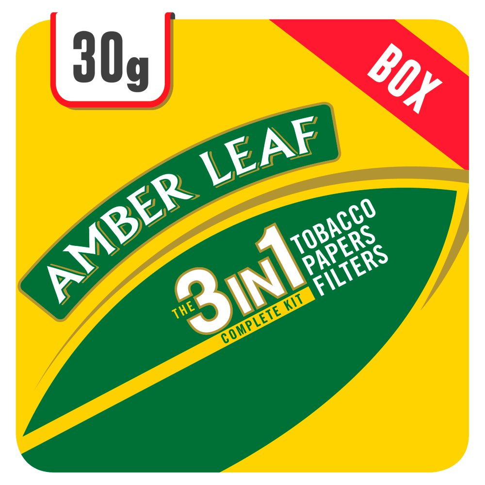 Amber Leaf Original 3 in 1 Tobacco Papers Filters 6 x 30g