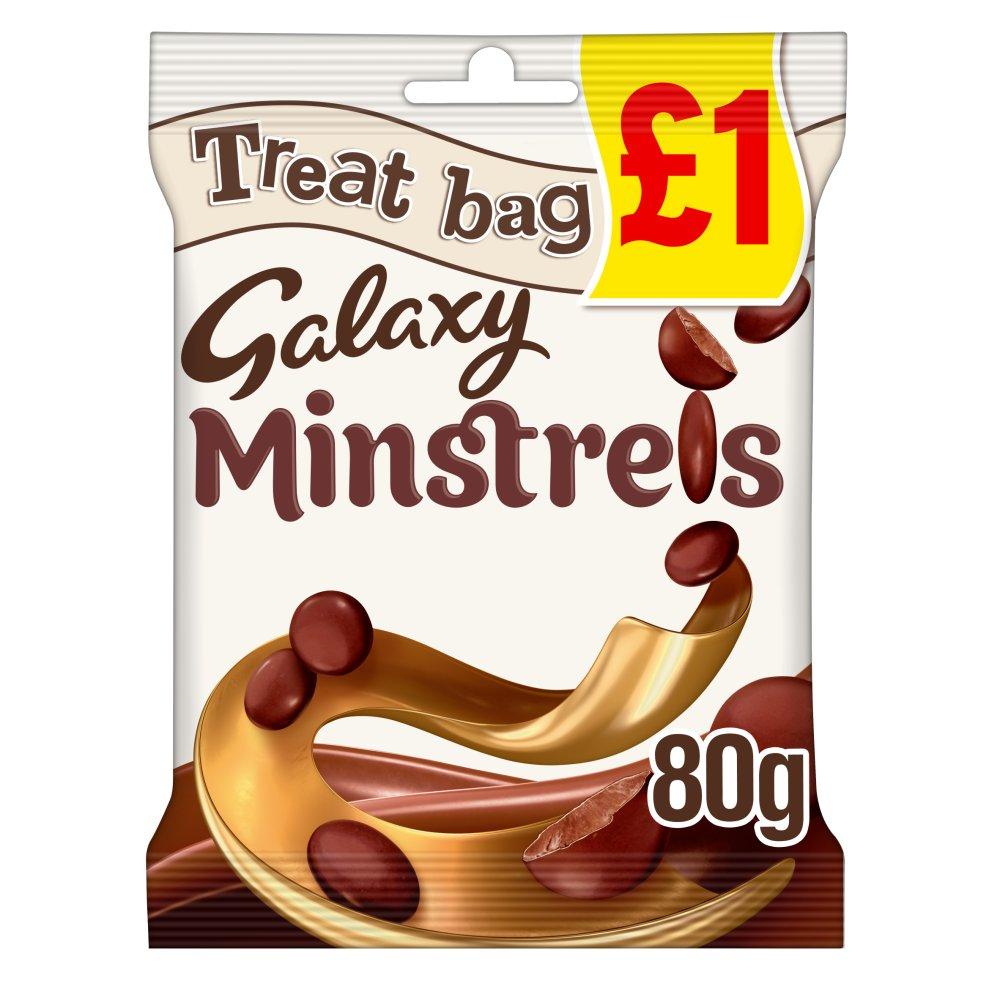 Galaxy Minstrels Chocolate £1 PMP Treat Bag 80g