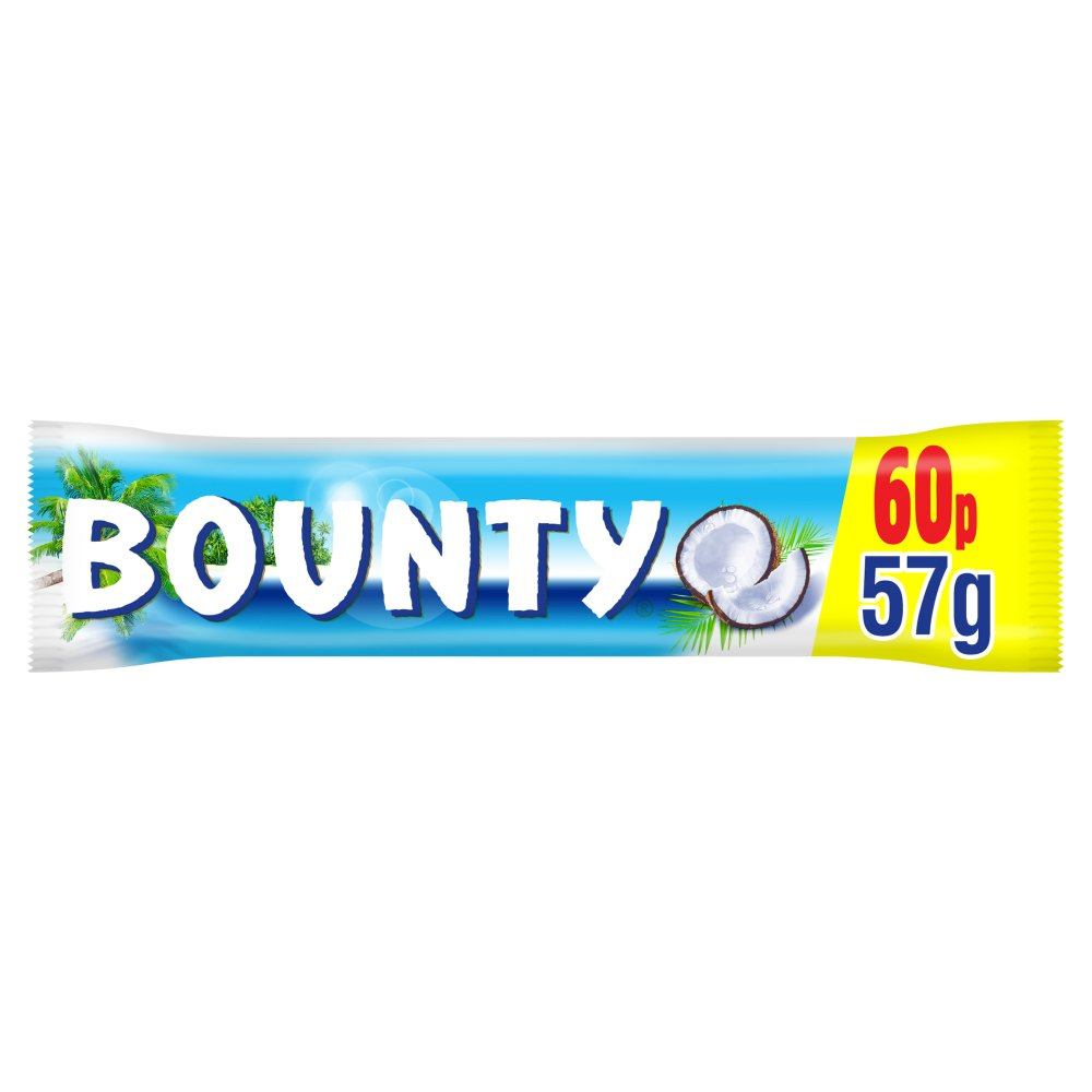 Bounty Coconut Milk Chocolate £0.60 PMP Duo Bar 57g