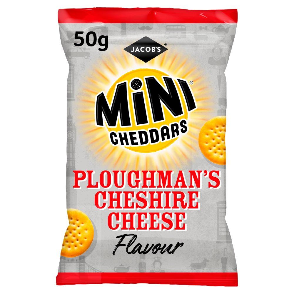 Jacob's Mini Cheddars Ploughman's Cheshire Cheese Snacks 50g