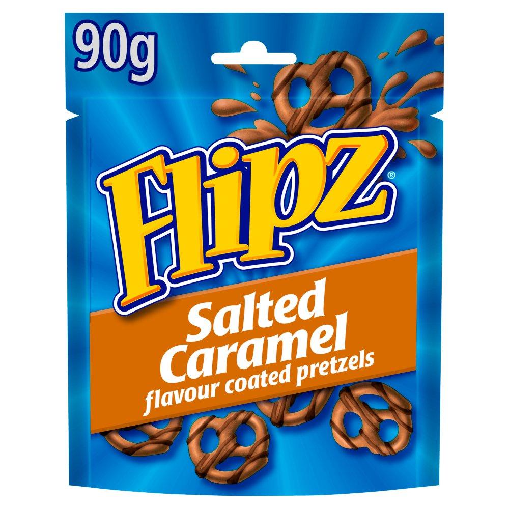 Flipz Salted Caramel Coated Pretzels Bag 90g