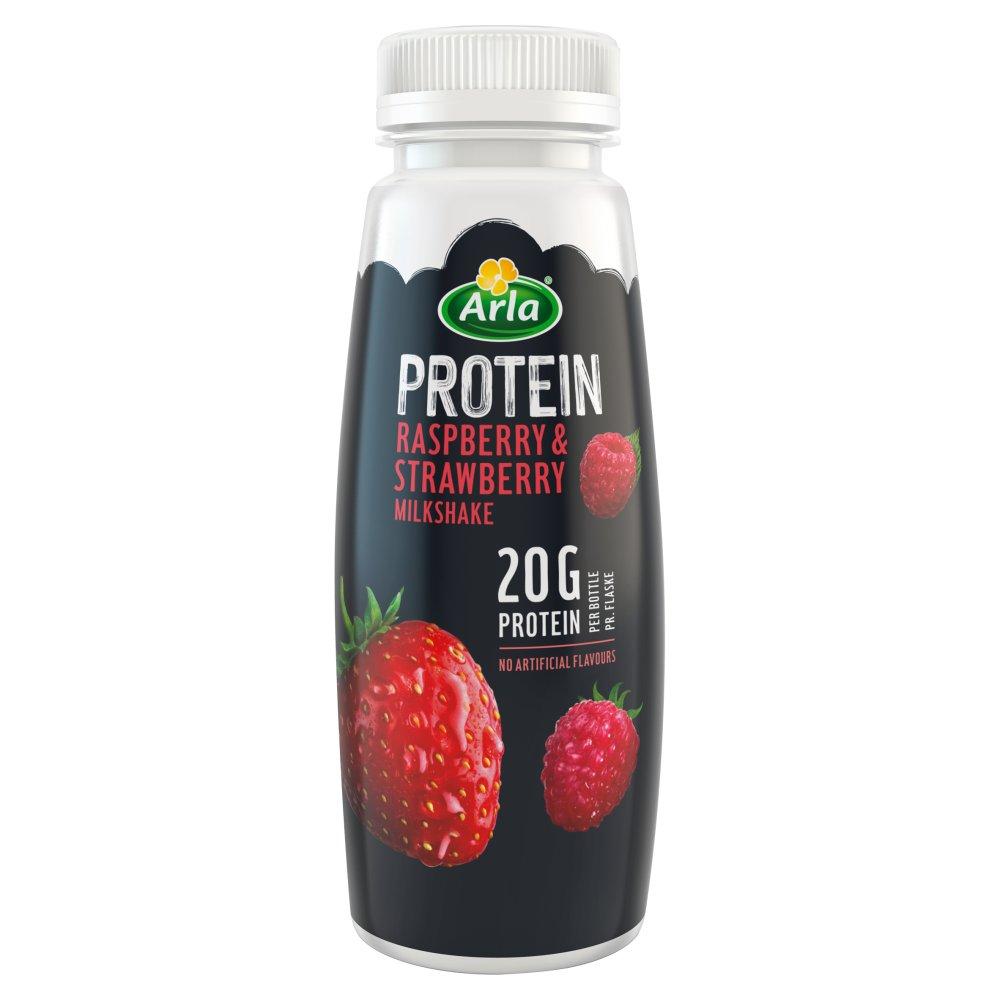 Arla Protein Raspberry & Strawberry Milk Shake 225ml