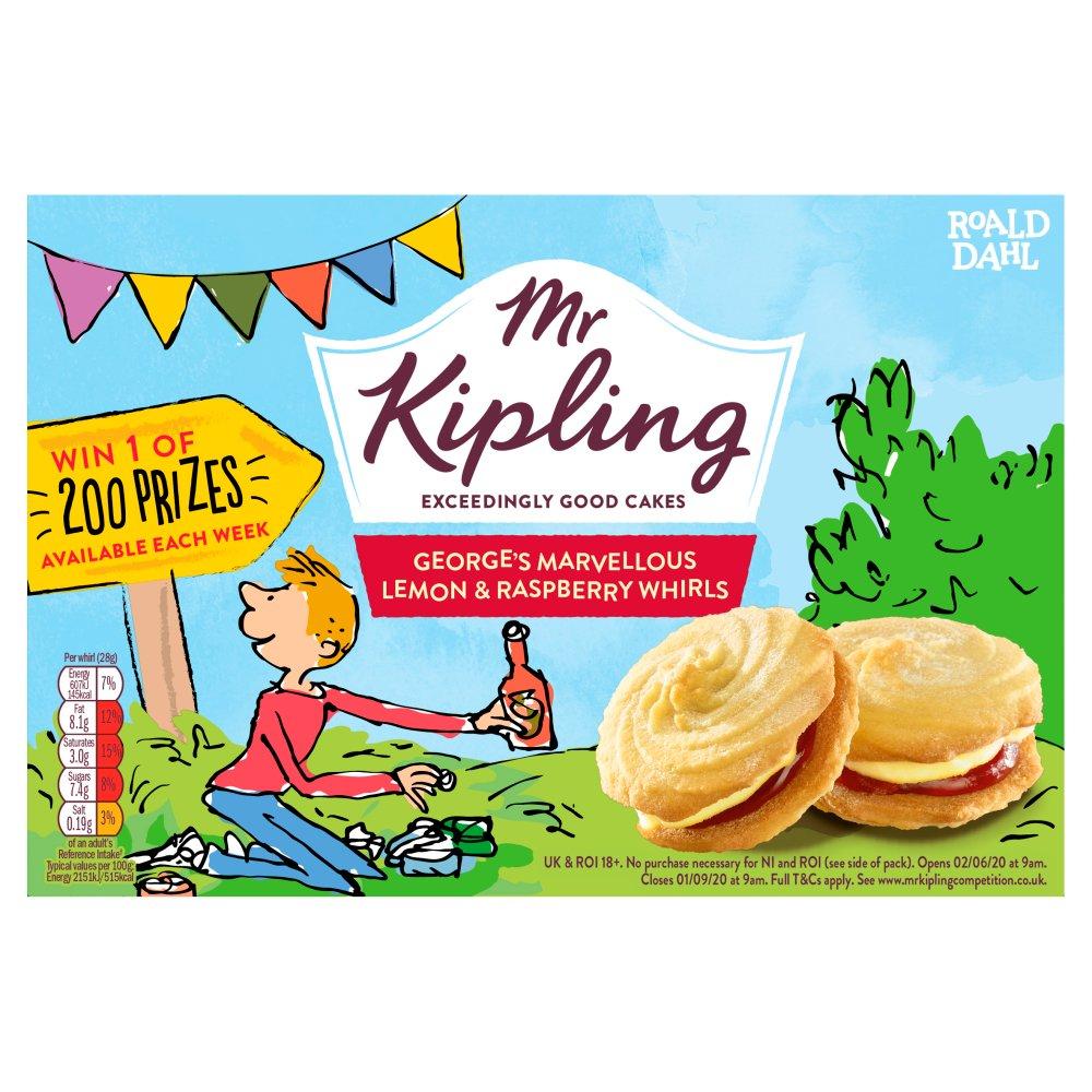 Mr Kipling 6 George's Marvellous Lemon & Raspberry Whirls