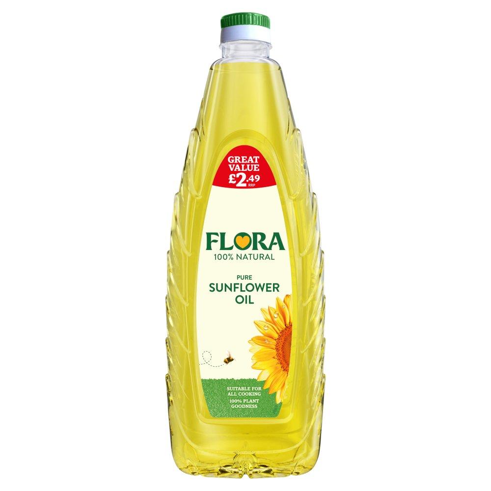 Flora Pure Sunflower Oil with Vitamin E 1 Litre